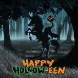 Soñoliento santifique el jinete sin cabeza de Halloween ilustración del vector