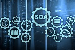 SOA. Business model and Information technology concept for Service Oriented Architecture under principle of service. Encapsulation royalty free stock photos