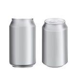 Soad della bevanda della latta di alluminio o modello della birra Immagini Stock Libere da Diritti