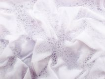 Soak a cloth. Before washing, white cloth Royalty Free Stock Images