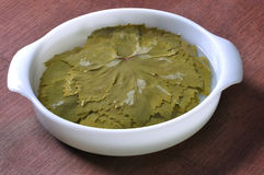 Soak grape leaves Royalty Free Stock Photo