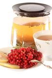 Soaked cowberries or don't have day's illness Stock Photo