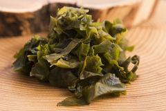 Soaked wakame seaweed Stock Photos
