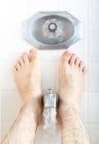 Soaking in the bathtub. Stock Photo