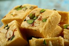Soan papdi -delicious Indian festival sweet snack stock images