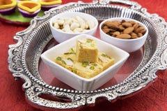 Soan Papdi, dolce indiano Immagine Stock