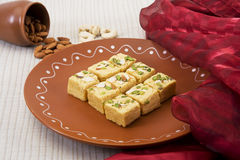 Soan Papdi. Indian Traditional Sweet royalty free stock images