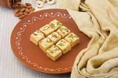 Soan Papdi, Indisch Snoepje Royalty-vrije Stock Foto