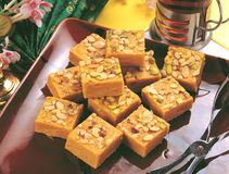 Soan Papdi Treat Stock Photography