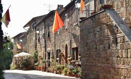 Soana 1 da vila de Toscânia Fotos de Stock Royalty Free