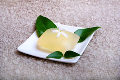 Soap. Digital photo of a soap with a flower Royalty Free Stock Images