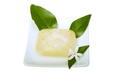 Soap. Digital photo of a soap with a flower Royalty Free Stock Image