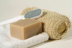 Soap. Bathroom objects royalty free stock photo