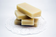 Soap. An isolated shot of some bars of hand made soap royalty free stock photo