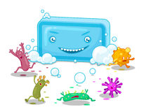 Soap And Bacteria Stock Image