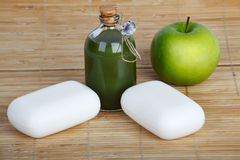 Soap and apple Royalty Free Stock Photography