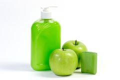 Soap with apples Royalty Free Stock Image