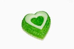 Soap as a green heart Stock Photos