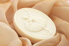 Soap with the ballerina. Soap with the image of the dancing ballerina Royalty Free Stock Photography