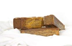 Soap bar. Bar of the brown soap Stock Photos