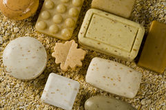 Soap Bar. On the white Stock Images