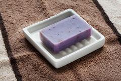 Soap bar with natural ingredients Royalty Free Stock Images