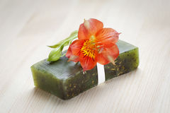 Soap bar with natural ingredients Stock Images
