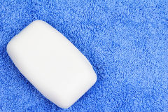 Soap Bar and Towel Royalty Free Stock Photography