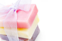 Soap bars with natural ingredients Stock Photos