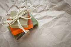 Soap bars with natural ingredients Royalty Free Stock Photography