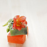 Soap bars with natural ingredients Stock Images