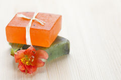 Soap bars with natural ingredients Stock Photography