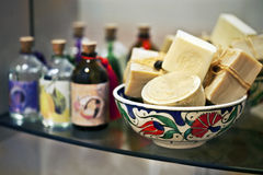 Soap basket royalty free stock photography