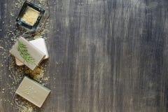 Soap and bath salt Stock Images