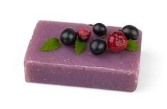 Soap with berries Stock Photo
