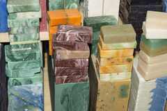 Soap in blocks for sale Royalty Free Stock Images