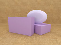 Soap with Box. 3D Rendered Image stock illustration