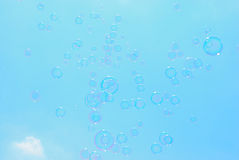 Soap-bubble. In the sky Stock Photography