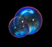 Soap bubble. On a black background Royalty Free Stock Image