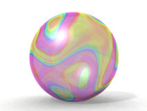 Soap bubble. A big soap bubble and multicolored Stock Photography