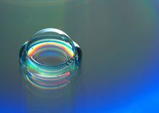 Soap Bubble. With refracted colored light Royalty Free Stock Photos