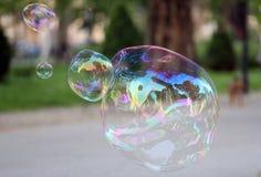 Soap Bubble. Big soap bubble in park Stock Photography