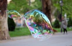 Soap Bubble. Big soap bubble in park Stock Photos