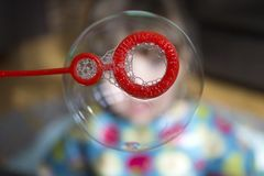 Soap Bubble, Bubble, Playing, Child Stock Images