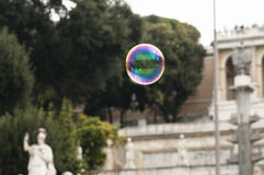 Soap bubble in the center of Rome. Royalty Free Stock Images