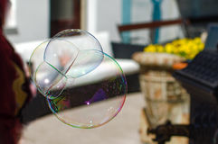 Soap bubble. Floating in the air Stock Photography
