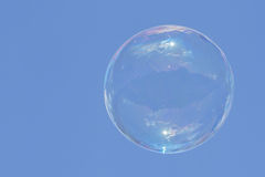 Soap bubble flying in the air Royalty Free Stock Images