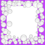 Soap bubble frame Stock Images