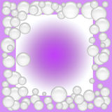 Soap bubble frame Royalty Free Stock Photos