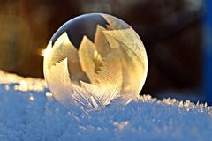 Soap Bubble, Frost, Snow, Bubble Royalty Free Stock Image